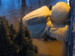 Hochwasser am 10.1.11 - Brückenmännchen