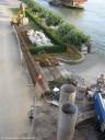 Bild - Kennedybrücke Arbeitsmaterialen - fertigte Armierungen Großbohrpfählen