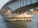 Bild - Kennedybrücke Brückenpfeiler Arbeitsplattform Rüstung