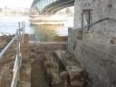 Bild - Kennedybrücke Loch für das Fundament