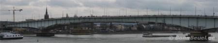 Kennedybrücke Bonn zwischen Beuel