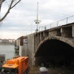 Brückenwiderlager Seite: Hotel 05.02.09