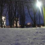 Schnee Postturm, Beueler Rheinaue