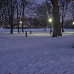 Beuel Laternen im Schnee