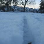 Schlittenkufe im Schnee