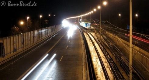 Autobahn 562 Blickrichtung Rheinaue (Beuel) - 05.02.09