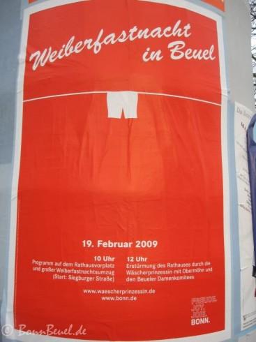 Plakat: Weiberfastnacht in Beuel
