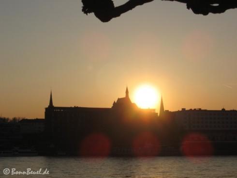 Sonnenuntergang am Rhein 31. März 2009