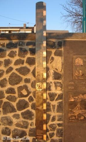 Hochwasserschutzmauer Bonner Pegel 31.03.09