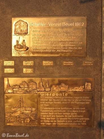 Tafel Gierponte & Schiffer-Verein Beuel 1862