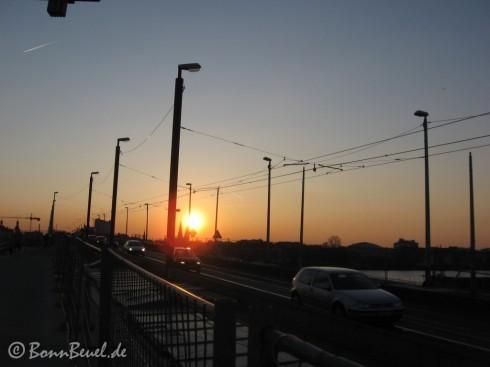 Kennedybrücke Sonnenuntergang 31.03.09