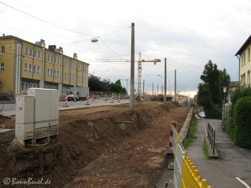 Beuel: Blickrichtung Kennedybrücke - 19.05.09
