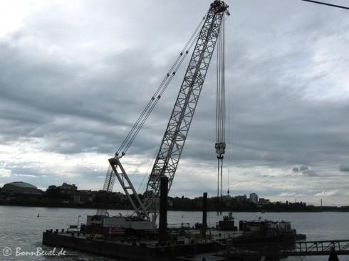 300 Tonen Schwimmkran - Kennedybrücke Bonn
