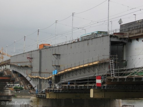 Bonner Seite der Kennedybrücke am 05.06.09