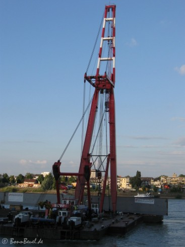 Schwimmkran Amsterdam (Mammoet) - Kennedybrücke