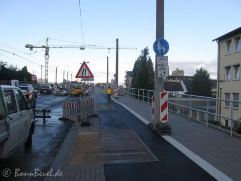 Kennedybrücke 03.09.09: Rad-/Fußweg von Beuel nach Bonn