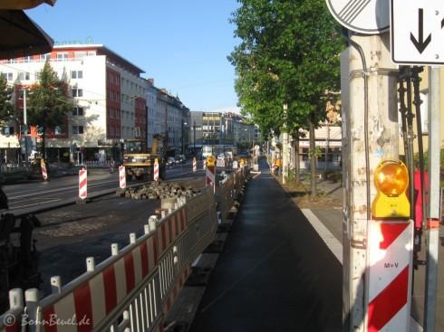 Kennedybrücke Radweg in Bonn Richtung Zentrum