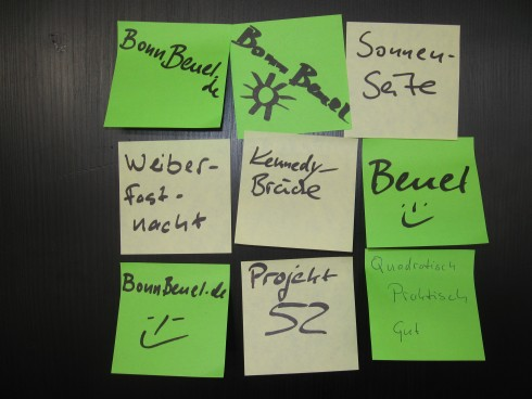 "Projekt 52: ""Quadratisch - Praktisch - Gut"" - Klebezettel"