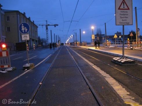 Überquerung der Kennedybrücke nur für Radfahrer und Fußgänger - 01.01.2010