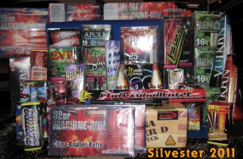 Feuerwerksbatterien und Knaller 2011